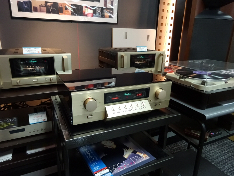 Accuphase C-2850の説明をしていただきました