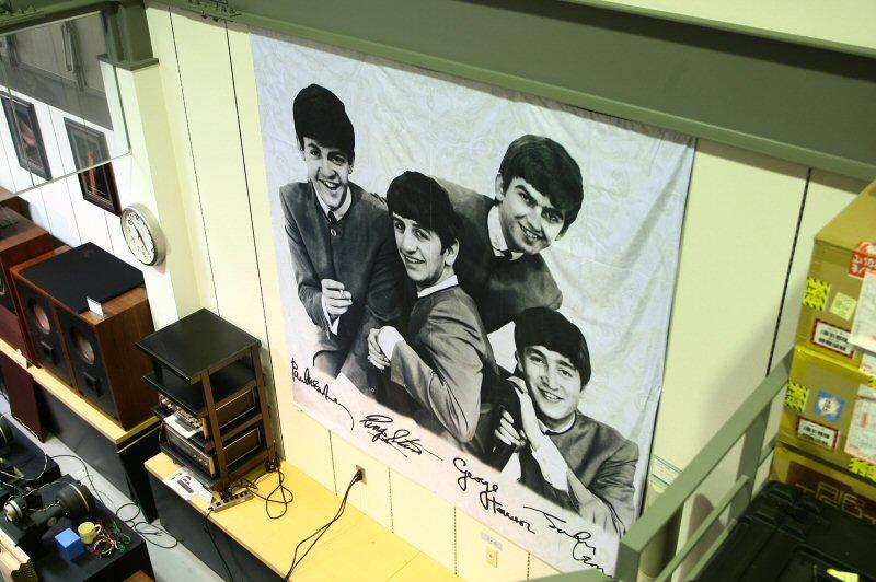 ビートルズのベッドカバー